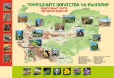 Двустранно табло по човекът и обществото за 3. клас /Природни забележителности. Културни богатства на България/
