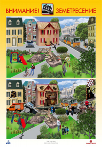 Комплект от 4 броя табла Бедствия и аварии за 4. подготвителна група в детската градина и училището